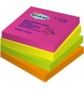 Haftnotizen stickies 76 x 76mm neon 4-farbig sortiert 12x 100 Blatt
