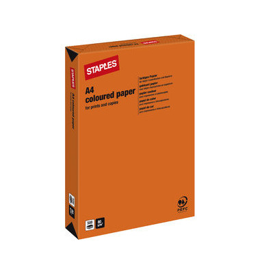 Coloured Paper orange intensiv A4 80g Kopierpapier 500 Blatt