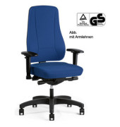 Bürodrehstuhl YOUNICO PRO ohne Armlehnen blau