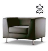 Couchgarnitur Wait schwarz echtes Leder Einsitzer