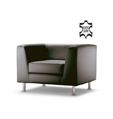 ClassicLine Wait schwarz Sessel Echtleder WAIT01-FIESTA