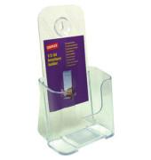 Prospektständer für Tisch/Wand 1 Fach DIN lang transparent