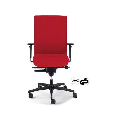 Bürodrehstuhl Sim-O Operator mit Armlehnen rot (Montage)