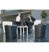 ClassicLine Club Zweisitzer Sofa schwarz Kunstleder CLUB-2-SP-A