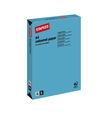 Coloured Paper royalblau intensiv A4 80g Kopierpapier 500 Blatt