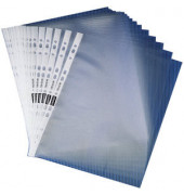 Prospekthüllen Economy A4 transparent genarbt 55my oben offen 100 Stück