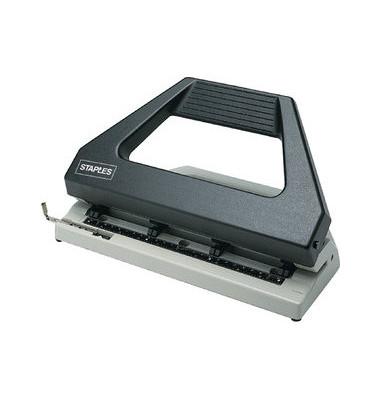 Doppellocher lichtgrau/schwarz 3mm 30 Blatt mit Anschlagschiene