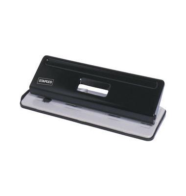 Doppellocher 7301261 lichtgrau/schwarz bis 2,5mm 25 Blatt mit Anschlagschiene