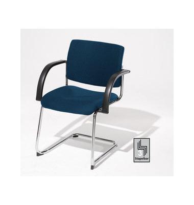 Sim-O Visitor blau 7306529 Schwingstuhl mit Armlehnen
