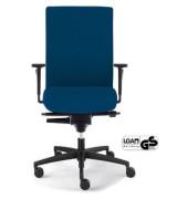 Bürodrehstuhl Sim-O Operator mit Armlehnen blau