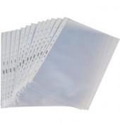 Prospekthüllen Standard A4 transparent genarbt 55my oben und links offen 100 Stück