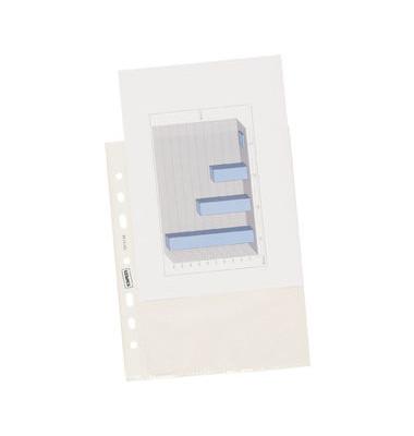 Prospekthüllen Standard A5 transparent genarbt 55my oben offen 100 Stück