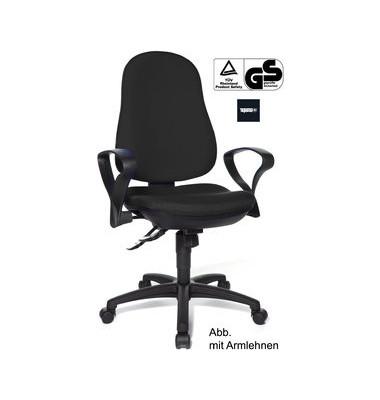 Bürodrehstuhl Support SY Synchro ohne Armlehnen schwarz