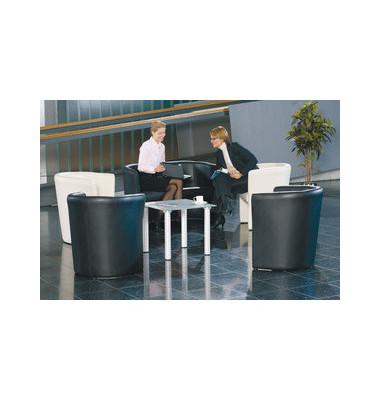 ClassicLine Club Zweisitzer Sofa schwarz Kunstleder CLUB-2-V14