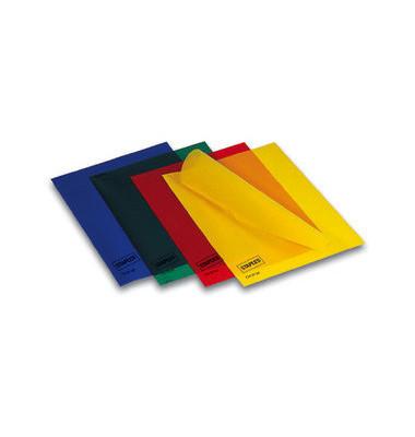 Sichthüllen 7340066, A4, farbig sortiert, transparent, genarbt, 0,12mm, oben & rechts offen, PP-Folie
