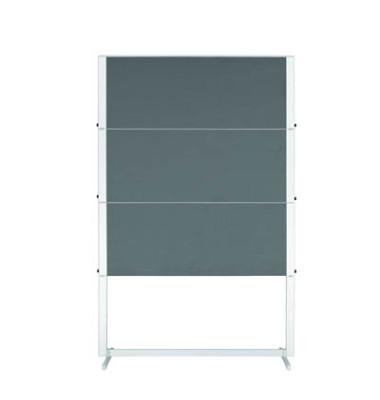 Moderationstafel Professional Travel 7-203500, 120x150cm, Filz + Filz (beidseitig), pinnbar, klappbar, grau + grau
