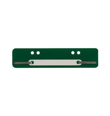 Heftstreifen kurz 7364447, 34x150mm, Kunststoff mit Kunststoffdeckleiste, grün, 100 Stück