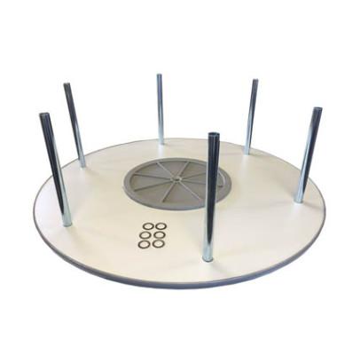 Ordnerdrehsäule Aufbauetage alusilber Durchmesser 100 cm für 36 Ordner