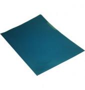 Sichthüllen 7389378, A4, blau, transparent, genarbt, 0,12mm, oben & rechts offen, PP-Folie