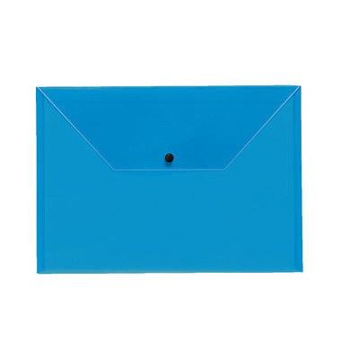 Dokumententasche Premium A4 blau/transparent bis 150 Blatt