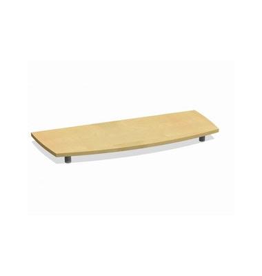 Deckplatte Bootsform f.120cm ahorn 1300x525x45