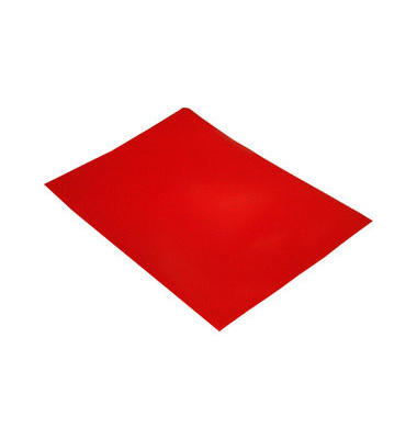 Sichthüllen 7405161, A4, rot, transparent, genarbt, 0,12mm, oben & rechts offen, PP-Folie