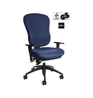 Bürodrehstuhl Wellpoint 30 SY mit Armlehnen blau