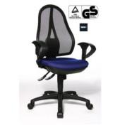 Bürodrehstuhl Open Point Synchro SY mit 2D Armlehnen blau