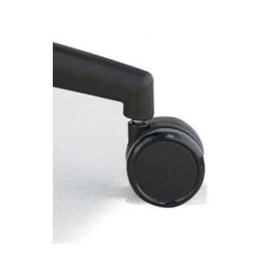 Rollensatz weich für harte Böden 5 Stück schwarz