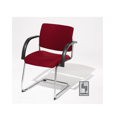 Sim-O Visitor rot 7447557 Schwingstuhl mit Armlehnen