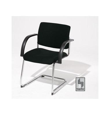 Sim-O Visitor schwarz 7459626 Schwingstuhl mit Armlehnen