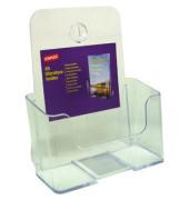 Prospektständer für Wand/Tisch 1 Fach A5 transparent