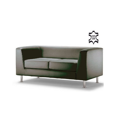 ClassicLine Wait schwarz Zweisitzer Sofa Echtleder WAIT02-FIESTA