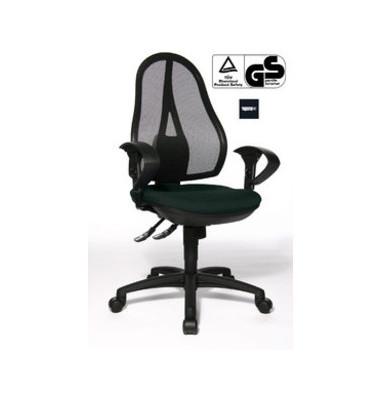 Bürodrehstuhl Open Point Synchro SY mit 2D Armlehnen schwarz