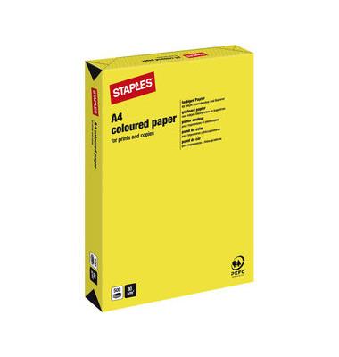 Coloured Paper gelb neon A4 80g Kopierpapier 500 Blatt
