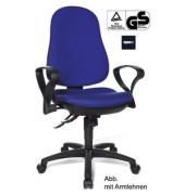 Bürodrehstuhl Support SY Synchro ohne Armlehnen blau