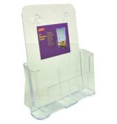 Prospektständer für Wand/Tisch 1 Fach A4 transparent