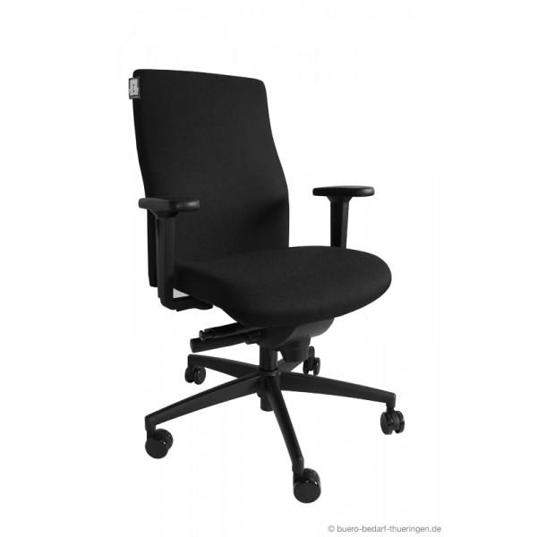 dauphin b rodrehstuhl sim o operator mit armlehnen schwarz. Black Bedroom Furniture Sets. Home Design Ideas