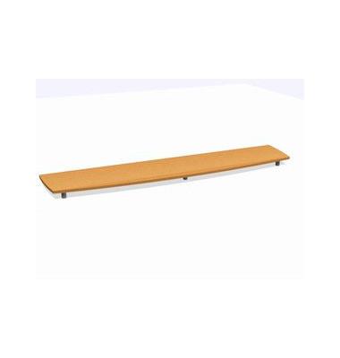Deckplatte Bootsform f.240cm buche 2500x525x45 Montage