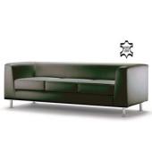 ClassicLine Wait schwarz Dreisitzer Sofa Echtleder WAIT03-FIESTA