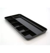 Büroschale 6 Unterteilungen schwarz Kunststoff