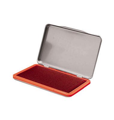 Stempelkissen 7711401 Größe 2 rot getränkt 7x11cm im Metallgehäuse