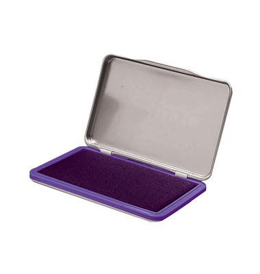 Stempelkissen 7711571 Größe 2 violett lila getränkt 7x11cm im Metallgehäuse