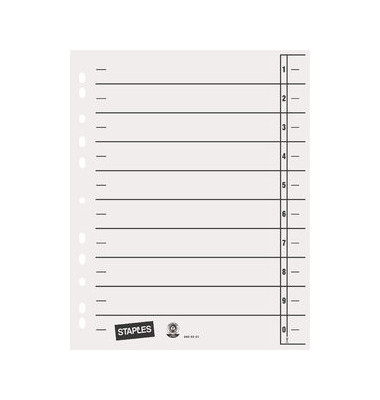 Trennblätter A4 weiß 230g Karton 100 Blatt Recycling