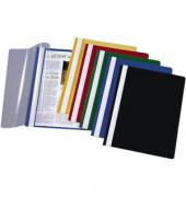 Schnellhefter A4 PP-Folie transparenter Vorderdeckel farbig sortiert 10 Stück