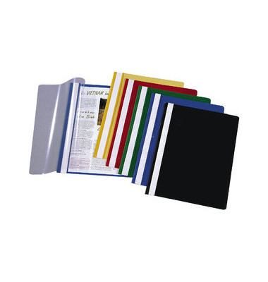 Schnellhefter 8000 A4 farbig sortiert PP Kunststoff kaufmännische Heftung