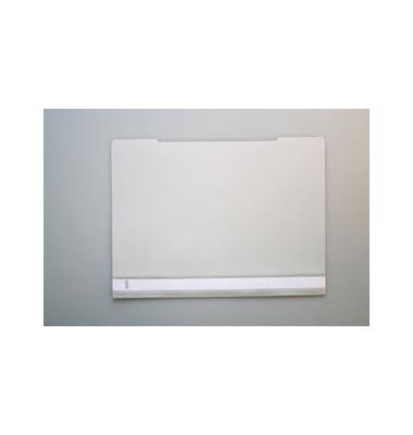Schnellhefter A4 PVC grau transparenter Vorderdeckel kaufmännische Heftung
