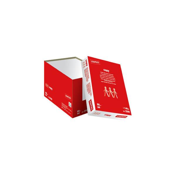 staples copy a4 80g kopierpapier wei 2500 blatt 1 karton. Black Bedroom Furniture Sets. Home Design Ideas