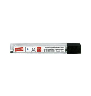 Bleistiftminen 0,5mm B schwarz
