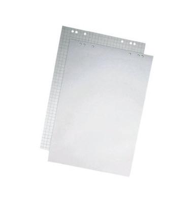 Flipchartblock kariert/blanko hellgrau 69 x 99cm 20 Blatt 5 Blöcke